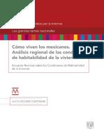 Cómo viven los mexicanos. Encuesta Nacional Sobre Las Condiciones de Habitabilidad y Vivienda 2015