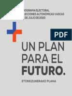 Programa electoral de PP+Cs para el País Vasco