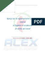 Aperçu sur la réglementation algérienne relative à l'hygiène et la sécurité en milieu de travail- DE 91-05