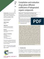 Atomic diffusion constants