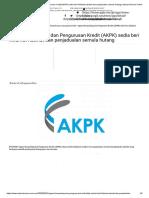 Agensi Kaunseling dan Pengurusan Kredit (AKPK) sedia beri khidmat nasihat dan penjadualan semula hutang _ Utusan Borneo Online.pdf