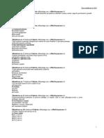 Oftalmologie Teste 2010 USMF