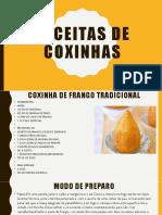 RECEITAS DE COXINHAS