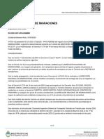 Ingreso de ciudadanos chilenos en tres pasos fronterizos