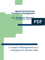 MPI- Concept of Management