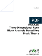 Rock 3d Software Manual