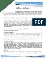 02 La Etica y los Valores.Etica Profesional