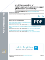 Evaluation of the uncertainty of determination cadmium in aluminum copper alloy by photoelectric spectrometry