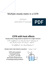 Multiple steady states in a CSTR