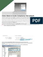 Cómo liberar el modo Compliance Test ubiquiti