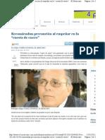 """11-01-11 Recomiendan precaución al empeñar en la """"cuesta de enero"""""""