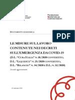 Le misure sul lavoro contenute nei decreti sull'emergenza da Covid-19