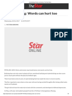Cyberbullying_ Words can hurt too _ The Star Online