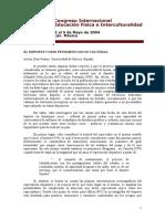 EL DEPORTE COMO FENOMENO SOCIO CULTURAL