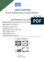 Alerta No_ #103-2020 - Ungüento Merey® Lata X 15 g Lote 03M04917 (1)