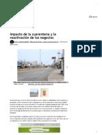Impacto de la cuarentena y la reactivación de los negocios _ EL UNIVERSAL - Cartagena