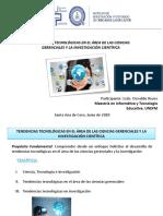 TENDENCIASTECNOLÓGICAS EN EL ÁREA DE LAS CIENCIAS GERENCIALES Y LA INVESTIGACIÓN CIENTÍFICA. Oswaldo Reyes