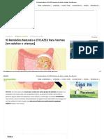 10 Remédios Naturais e EFICAZES Para Vermes [em adultos e crianças] - GreenMe.com.br