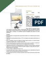 1375 CABINA DE SEGURIDAD BIOLÓGICA CLASE II TIPO A2 DE 1