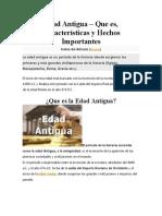 Edad Antigua - resumen