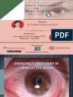 Ocular Chemical Injury in Emergency Setting Dr. Kartika Lilisantosa Spm