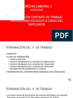 TERMINACION CONTRATO DE TRABAJO