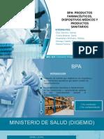 BPA de Productos. Farmacéuticos, Dispositivos Médicos y Productos Sanitarios