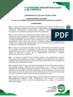 RESOLUCION 025-2020_BAJA TITULO DE CREDITO
