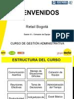 CURSO DE GESTIÓN ADMINISTRATIVA - SESIÓN 3 - COHESIÓN DE EQUIPO