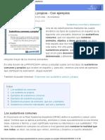 Tipos de sustantivos COMUNES y PROPIOS - ¡con EJEMPLOS!