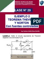 CLASE N° 29 EJEMPLO 2 THEVENIN Y NORTON
