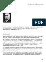 5 conférences par P.D. Ouspensky