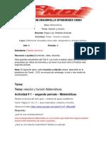 TALLER # 1 - PERIODO 2 - CLEI 6  MATEMÁTICAS - RELACIÓN Y FUNCIÓN-convertido