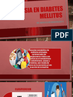 Anestesia en diabetes mellitus