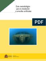 Guía metodológica para la instalación de arrecifes artificiales