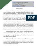 DIREITO PROCESSUAL DO TRABALHO - RESENHA 2