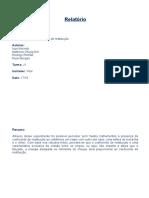 Relatório 8.0 - Laboratório