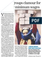 Business Standard - 9 Jan 2010 - Labour Groups Clamour for Statutory Minimum Wages