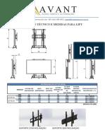 Medidas para Lift de monitor