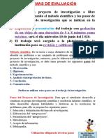 8. Forma de evaluación a los estudiantes - 3ro