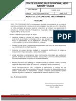 POLÍTICA DE SEGURIDAD, SALUD OCUPACIONAL, MEDIO AMBIENTE