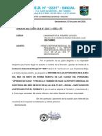 OFICIO Nº 22 - INFORME DE FORMATO 1 Y REPORTE DE ASISTENCIA MENSUAL DEL MES DE MAYO