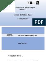 U2 - Clase práctica - Modelo de Nida  Taber