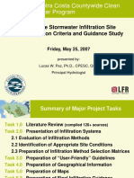 Stormwater Infiltration Feasibility L. Paz CASQA conference presentation
