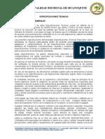 3.02 ESPECIFICACIONES GENERALES Y TÉCNICAS