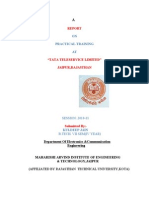 Tata Indicom (Cdma)Training Report
