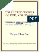Edgar Allan Poe-Collected Works of Poe, Volume II (Webster's Korean Thesaurus Edition) (2006)