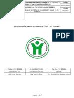 Programa de Medicína Preventiva y del Trabajo hospital cundinamarca