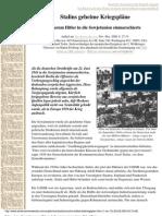 (Geschichte) Tedor, Richard - Stalins Geheime Kriegspläne. Warum Hitler In Die Sowjetunion Einmarschierte