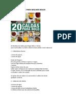 DICAS DE CALDAS PARA MOLHAR BOLOS da Marrara